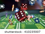 close up view of a craps table... | Shutterstock . vector #410235007