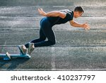 sprinter leaving starting... | Shutterstock . vector #410237797