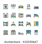 set of modern line icons of...