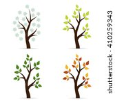 set of icons four seasons... | Shutterstock . vector #410259343