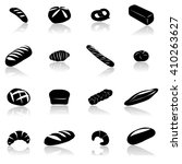 Bakery And Pastry Set Icon ...