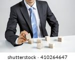concept of business hierarchy... | Shutterstock . vector #410264647