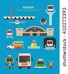 thailand transportation objects ... | Shutterstock .eps vector #410272393