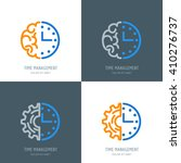 time management and planning... | Shutterstock .eps vector #410276737