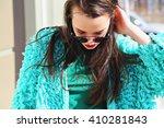 beauty girl in fashionable... | Shutterstock . vector #410281843