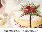 strawberry cake | Shutterstock . vector #410290267