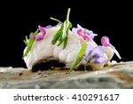 turbot fish sashimi  haute... | Shutterstock . vector #410291617