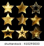 set of gold stars with variety...   Shutterstock .eps vector #410293033