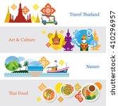 thailand travel banner concept... | Shutterstock .eps vector #410296957