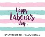 Happy Labour's Day Inscription...