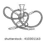 shisha  hookah hand drawn... | Shutterstock .eps vector #410301163