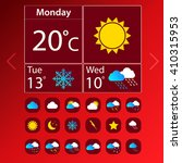 weather vector icon set on... | Shutterstock .eps vector #410315953