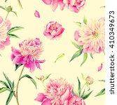 summertime garden flowers... | Shutterstock . vector #410349673