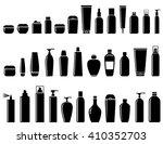 black glossy cosmetic bottle... | Shutterstock . vector #410352703