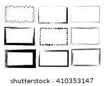 set of empty black grunge... | Shutterstock .eps vector #410353147