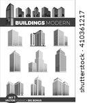 skyscraper logo building icon... | Shutterstock .eps vector #410361217