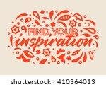 inspiration calligraphy ... | Shutterstock .eps vector #410364013