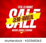 semi annual sale banner  total...   Shutterstock .eps vector #410368363
