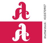 abstract letter a logo template.... | Shutterstock .eps vector #410370907