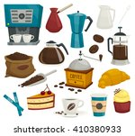 coffee objects isolated on... | Shutterstock .eps vector #410380933