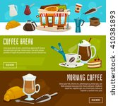 coffee vertical banners ... | Shutterstock .eps vector #410381893