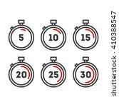timer line icons. timer icons...
