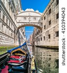 under the bridge of sighs ... | Shutterstock . vector #410394043