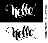 hello. lettering. vector... | Shutterstock .eps vector #410396503