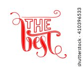 the best lettering. ve tor red... | Shutterstock .eps vector #410396533
