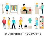 vector shopping and shipping... | Shutterstock .eps vector #410397943