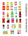 food and drink packaging. ... | Shutterstock .eps vector #410406013