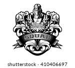 ornamental baroque heraldry... | Shutterstock .eps vector #410406697