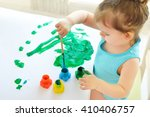 cute little toddler child... | Shutterstock . vector #410406757