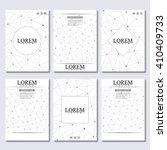 vector brochure template  flyer ... | Shutterstock .eps vector #410409733