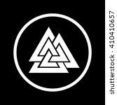 valknut icon in a circle | Shutterstock .eps vector #410410657