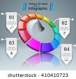speedometer icon. 3d... | Shutterstock .eps vector #410410723