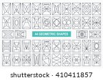 set of hipster vector geometric ... | Shutterstock .eps vector #410411857