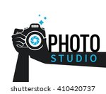 photographer hands with camera...   Shutterstock .eps vector #410420737