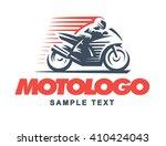 sport motorcycle  logo... | Shutterstock .eps vector #410424043