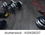free space on the wooden floor... | Shutterstock . vector #410428237