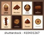 set of brochures with chocolate ... | Shutterstock .eps vector #410431267