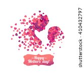 happy mother's day  silhouette... | Shutterstock .eps vector #410432797