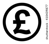 pound coin icon vector symbol... | Shutterstock .eps vector #410439877
