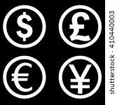 dollar  euro  pound  yen vector ... | Shutterstock .eps vector #410440003