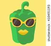 vector green sweet pepper... | Shutterstock .eps vector #410451193