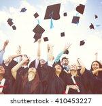 graduation student commencement ... | Shutterstock . vector #410453227