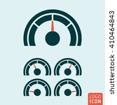 gauge icon. speedometer or...