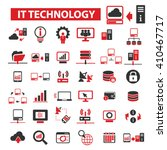 it technology icons  | Shutterstock .eps vector #410467717