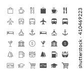 map and location icons ... | Shutterstock .eps vector #410469223