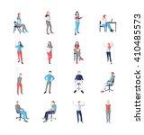 people  male  female  in...   Shutterstock .eps vector #410485573